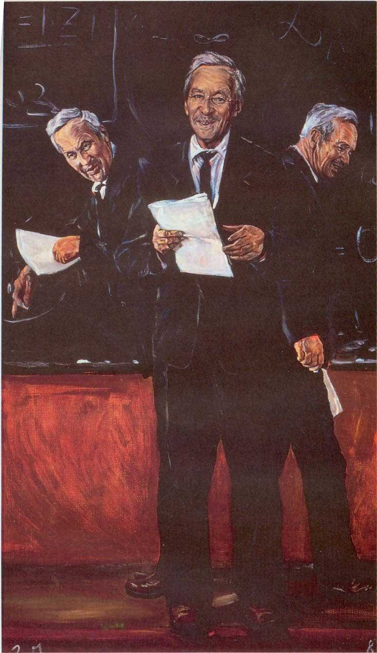 Dima Gordeyev. Teacher ( A. N. Kolmogorov ). 100x60 cm. Oil on canvas, 1980. Komarovka, Moscow Region.